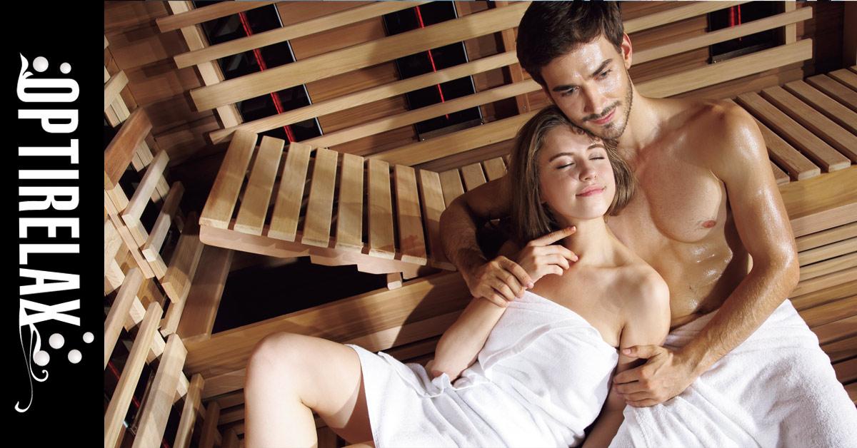 Einen steifen in der sauna