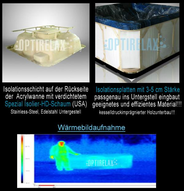 Whirlpool Isolation mit Waermebildaufnahme