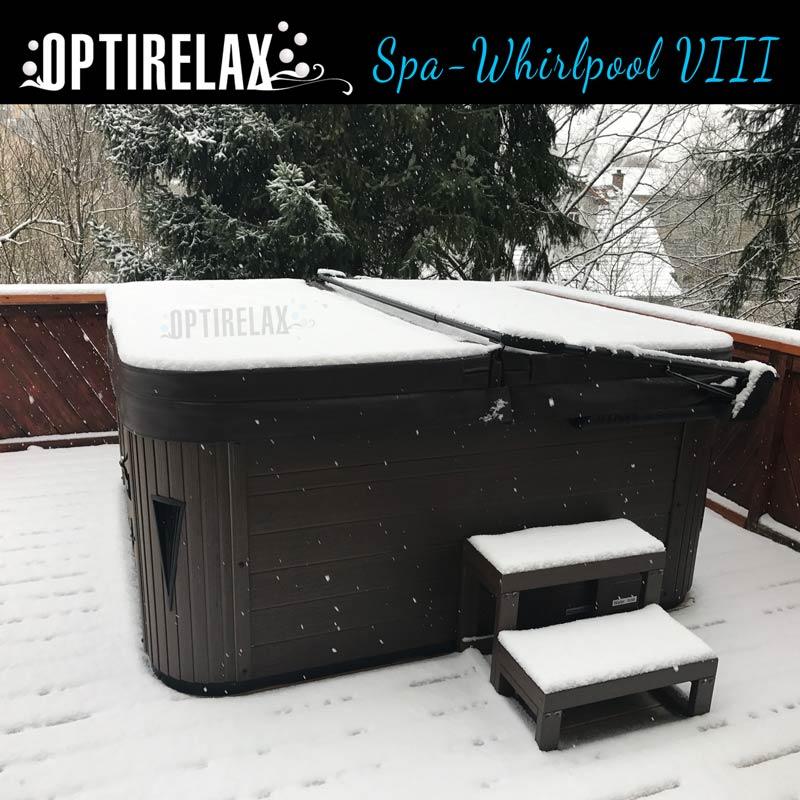 OPTIRELAX Whirlpool mit winterfester Isoaltion und passender Thermoabdeckung