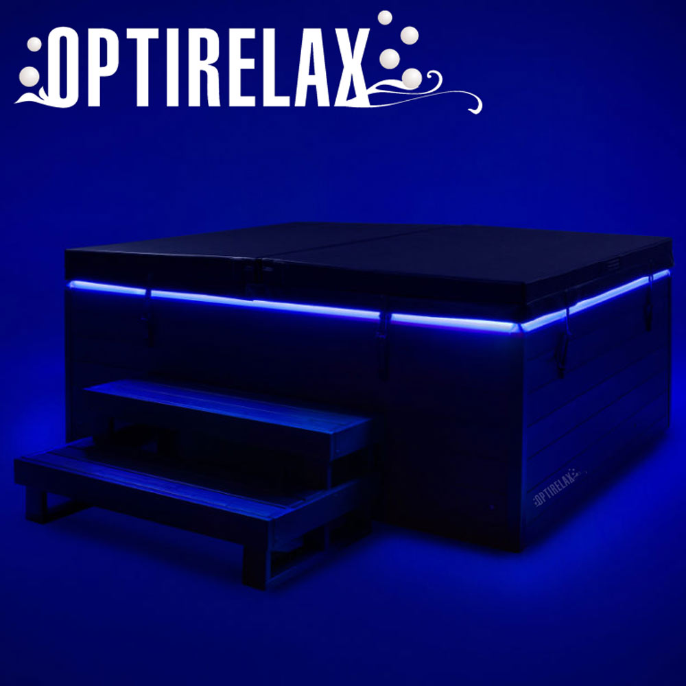 Design Aussenwhirlpool OPTIRELAX Modell L4 mit indirekter LED Beleuchtung