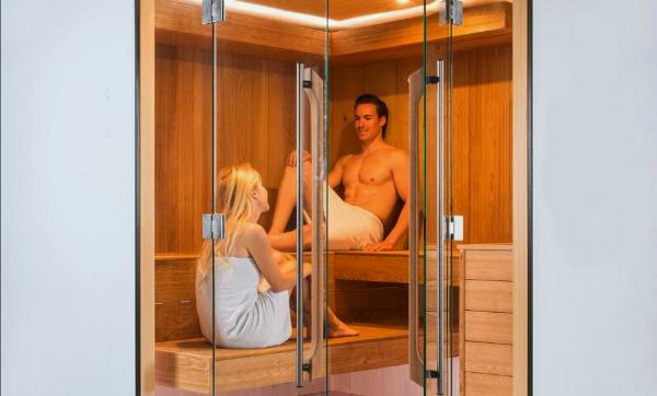 Luxus Sauna IND-White