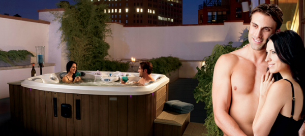 Den Abend kann man bequem im Whirlpool ausklingen lassen