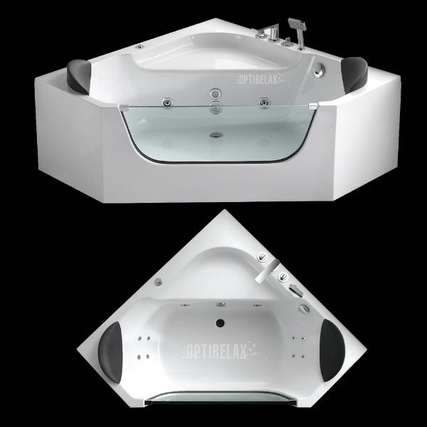 Eckwhirlpool mit Glas Optirelax OP-F150