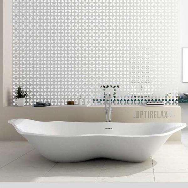 Freistehende Aussteller-Badewanne aus Mineralguss Neapel