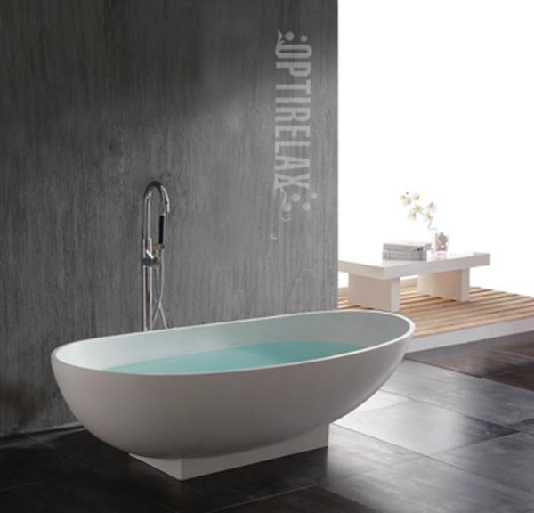 Freistehende Badewanne aus Mineralguss Capri