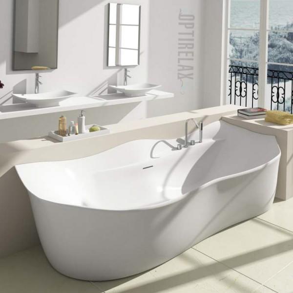 Freistehende Badewanne aus Mineralguss Waterrelax Bozen