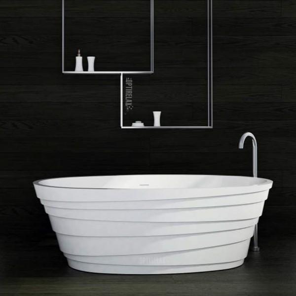 Freistehende Badewanne aus Mineralguss Waterrelax Florenz
