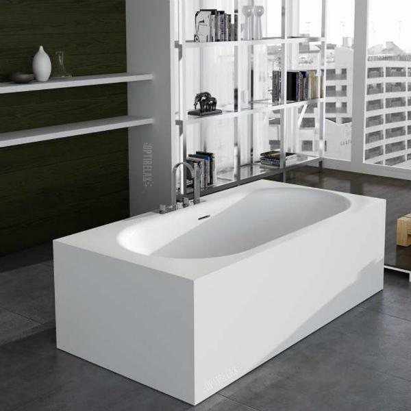 Freistehende Badewanne aus Mineralguss Waterrelax Sorrent