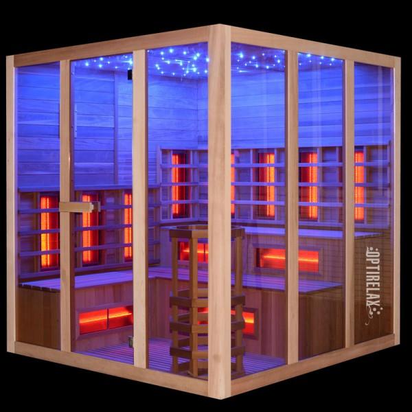 Kombisauna Optirelax Soelden Infrarot Ofen mit Lichtakzenten