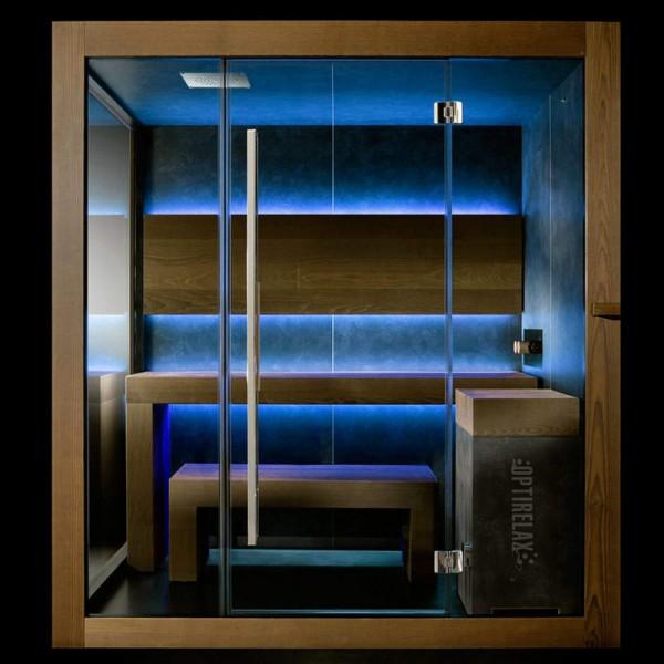 Premium 3in1 Sauna OPX-CM WONDER 1A mit Lichtakzenten