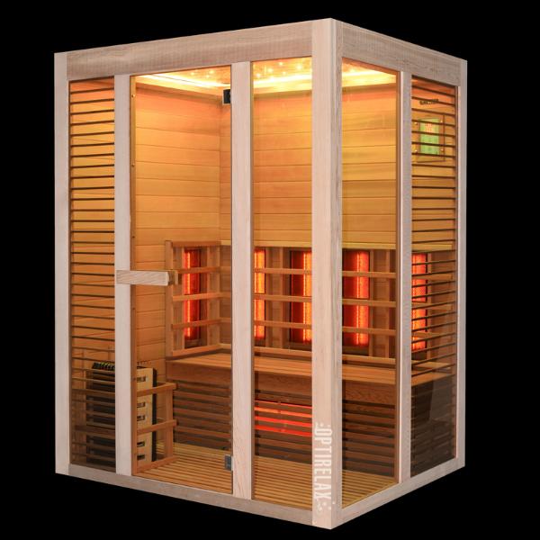 Sauna Optirelax Kombirelax E160 mit Lichtakzenten