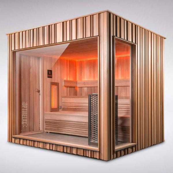 VIP Outdoor DK Sauna Gartenrelax I mit Lichtakzenten