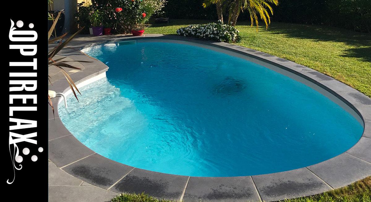 Ovaler Niernförmiger GFK-Polyster Pool mit Keramikschicht