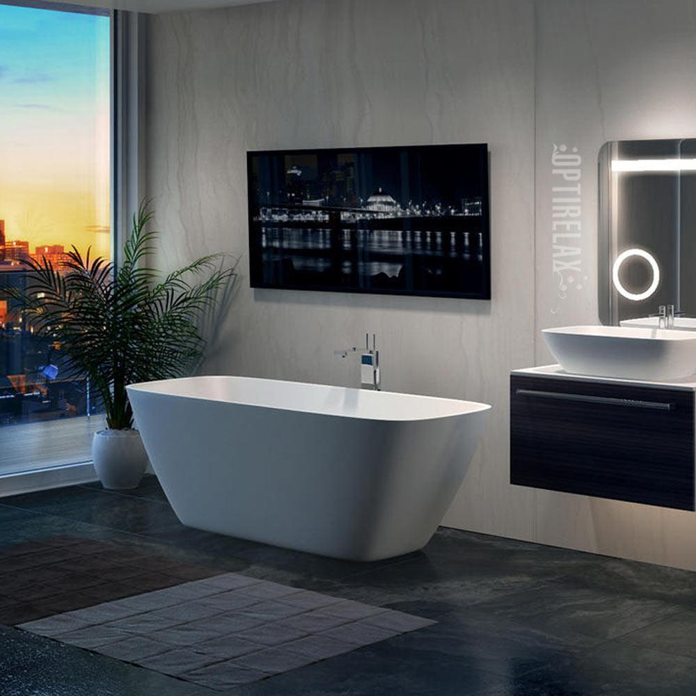 Freistehende Mineralguss Badewanne OPTIRELAX DNE - Luxus Badezimmer Idee